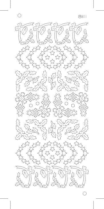 Diamantsticker weihnachtliche Zierecken