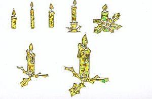 Diamantsticker Kerzen