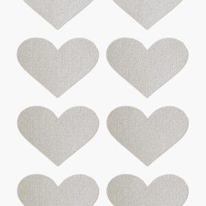 Papiersticker Herzen silber